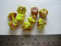 Dice : 7die CC redyellow marble