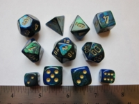 Dice : 7die CHX gemini blue green sparkle