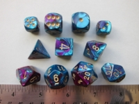 Dice : 7die CHX gemini purple teal