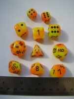 Dice : 7die CHX gemini yellow orange