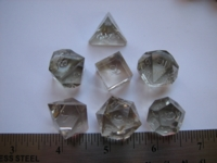Dice : 7die GSc precision translucent clear