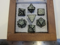 Dice : 7die QW Steampunk black GID