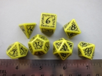 Dice : 7die QW elven bright yellow