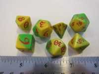 Dice : 7die QW elven candy greenyellow