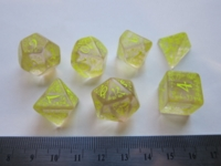 Dice : 7die QW elven clear yellow