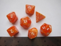 Dice : 7die TheDiceShop marble orange
