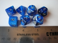 Dice : 7die blue dragon bones