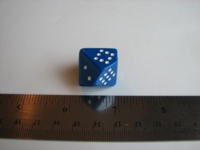 Dice : d10 CHX pipped blue