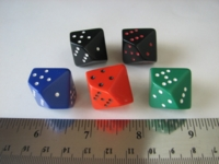 Dice : d10 Chessex pipped misc