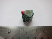 Dice : d10 vampire rose blood tipped green speckle
