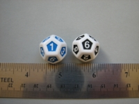 Dice : d12 inlaid d6twice