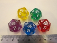 Dice : d20 MTG copy Lotus translucent