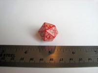 Dice : d20 QW red mystic
