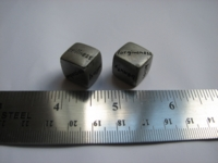Dice : d6 0p5inch pewter new age