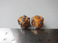 Dice : d6 12mm etsy JENetics steampunk