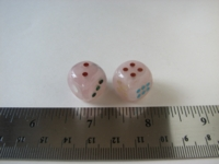 Dice : d6 12mm rose quartz