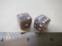 Dice : d6 14mm agate seam