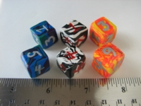 Dice : d6 14mm etsy fimo