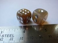 Dice : d6 15mm agate