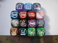 Dice : d6 16mm CHX icons GenCon09