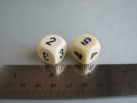 Dice : d6 16mm Chessex averaging