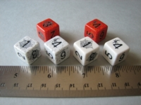 Dice : d6 16mm Chessex spiders