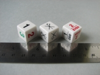 Dice : d6 16mm FB misc