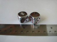 Dice : d6 16mm Ferrari metal