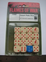 Dice : d6 16mm FoW Desert Rats