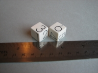 Dice : d6 16mm Georg Jensen white