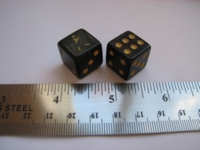 Dice : d6 16mm Johnnie Walker black