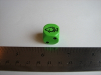 Dice : d6 16mm Koplow fish green