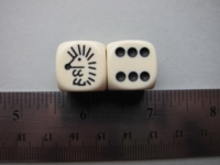 Dice : d6 16mm Koplow hedgehog