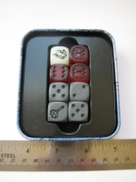 Dice : d6 16mm LOTR Sabertooth combat hex