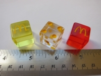 Dice : d6 16mm McDonalds