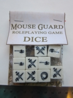 Dice : d6 16mm Mouse Guard