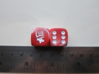 Dice : d6 16mm Munchkin pink marble