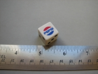 Dice : d6 16mm Pepsi white