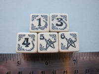 Dice : d6 16mm QW arkham horror ivory