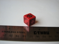 Dice : d6 16mm QW redX