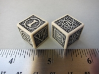 Dice : d6 16mm QW roman