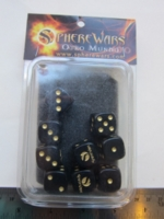 Dice : d6 16mm Sphere Wars black
