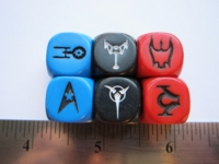 Dice : d6 16mm Star Trek