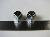 Dice : d6 16mm Warhammer 25th chrome