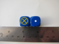 Dice : d6 16mm X-Men blue