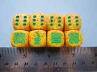 Dice : d6 16mm adinkra Jan11