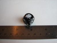 Dice : d6 16mm black rose