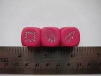 Dice : d6 16mm blood bowl pink