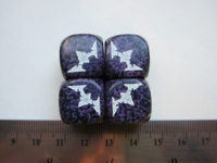 Dice : d6 16mm chaos set purple