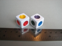 Dice : d6 16mm chroma cubes